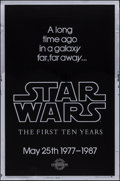 "Movie Posters:Science Fiction, Star Wars: The First Ten Years (Killian Enterprises R-1987). 10thAnniversary Silver Mylar One Sheet (27"" X 41"") Style A. Sc..."