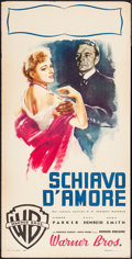 "Movie Posters:Drama, Of Human Bondage (Warner Brothers, 1946). Italian Locandina (13"" X 27.5""). Drama.. ..."
