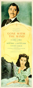 "Movie Posters:Academy Award Winners, Gone with the Wind (MGM, 1939). Insert (14"" X 36"") Roadshow,Armando Seguso Artwork.. ..."
