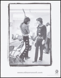 "Mick Jagger and Keith Richards by Ethan Russell (Virgin, 2003). Virgin Megastore Promotional Poster (22"" X 28""..."