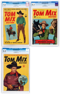 Tom Mix Western #32, 34, and 36 CGC-Graded Group (Fawcett Publications, 1950).... (Total: 3 Comic Books)