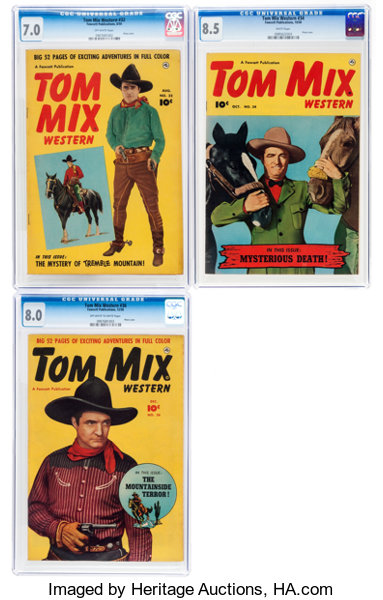 12142132 Tom Mix Western #32, 34, and 36 CGC-Graded Group | Lot #12736 ...