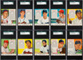 Baseball Cards:Sets, 1953 Red Man (With Tabs) Baseball Complete Set (52). ...