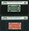 Fr. 1272SP 15¢ Third Issue Red Back PMG Choice Uncirculated 64 Fr. 1272SP 15¢ Third Issue Green Back PMG Choic...