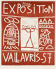 Pablo Picasso (1881-1973) Exposition Vallauris 57, 1957 Linocut in colors on wove paper. with full margins 39-1/2 x 2