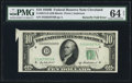 Error Notes:Attached Tabs, Butterfly Fold Error Fr. 2012-D $10 1950B Federal Reserve Note. PMGChoice Uncirculated 64 Net.. ...