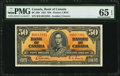 Canadian Currency, BC-26b $50 1937. ...