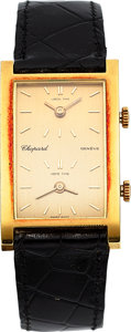 Timepieces:Wristwatch, Chopard Ref. 2034 Dual Time 18k Gold Wristwatch. ...