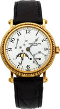 Timepieces:Wristwatch, Patek Philippe Ref. 5015 Yellow Gold Automatic With Power Reserve & Moon Phase. ...
