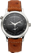 Timepieces:Wristwatch, Jaeger LeCoultre Master Control 1000 Geographic Steel Wristwatch....