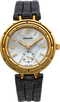 "Timepieces:Wristwatch, Gerald Genta, Ref. G.3382.7, 18k Gold ""Bamboo"" Manual WindWristwatch, Circa 1995. ..."