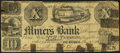 Obsoletes By State:Iowa, Dubuque, IA - Miners Bank $10 Jan. 1, 1841 Oakes 59-2. ...