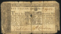 Colonial Notes:Maryland, Maryland March 1, 1770 $1 Very Good-Fine.. ...
