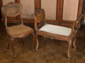 Furniture , A Louis XV-Style Walnut and Caned Window Bench with Associated Side Chair, 19th century. 27-1/2 h x 30-1/4 w x 15 d inches (... (Total: 2 Items)
