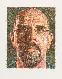 Chuck Close (b. 1940) Self Portrait, 2007 Lithograph and screenprint in colors on Somerset paper, wi