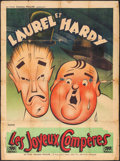 """Movie Posters:Comedy, Them Thar Hills (Les Films Georges Muller, R-1950). French Grande (46"""" X 62.5""""). Comedy.. ..."""
