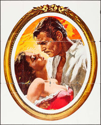"""Gone with the Wind (MGM, R-1968). Folded, Fine+. Promotional Poster (50"""" X 62""""). Howard Terpning Artwork. Acad..."""