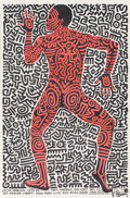 Prints & Multiples, After Keith Haring . Into 84 (exhibition poster), 1983. Lithograph in colors on paper. 35-1/8 x 23-1/8 inches (89.2 x 58...