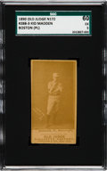 "Baseball Cards:Singles (Pre-1930), 1887-90 N172 Old Judge Michael ""Kid"" Madden (#288-3) SGC 60 EX 5...."