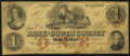 Obsoletes By State:Rhode Island, Wakefield, RI - Bank of the South County $1 Dec. 1, 1853. ...