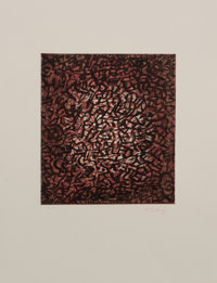 Mark Tobey (1890-1976) Awakening Earth, circa 1971 Etching with aquatint in colors on wove paper, wi