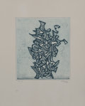 Prints & Multiples, Mark Tobey (1890-1976). Liberation, 1973. Etching in colors on wove paper, with full margins. 11 x 9-5/8 inches (27.9 x ...