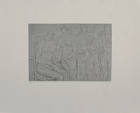 Henry Spencer Moore (1898-1986) Group of Figures, c. 1974 Lithograph in colors on Rives BFK paper, w
