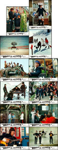 "Movie Posters:Rock and Roll, Help! (United Artists, 1965). French Lobby Card Set of 12 (8.5"" X10.75"").. ..."