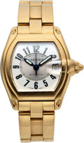 Timepieces:Wristwatch, Cartier 18k Yellow Gold Ref. 2524 Gent's Roadster. ...