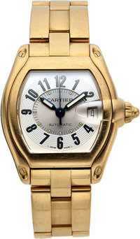 Cartier 18k Yellow Gold Ref. 2524 Gent's Roadster