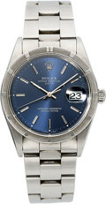 Timepieces, Rolex Ref. 15210 Gent's Blue Dial Oyster Perpetual Date. ...
