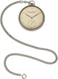 Timepieces:Pocket (post 1900), IWC Staybrite Steel Pocketwatch, Circa 1960's, Cal. 97. ...