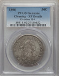 Early Half Dollars, 1806 50C Pointed 6, Stem, O-114, T-16, R.5, -- Cleaning -- PCGSGenuine. XF Details. NGC Census: (0/1). PCGS Population: (2...
