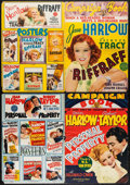 """Movie Posters:Romance, Personal Property & Others Lot (MGM, 1937) Folded, Good/Very Good. Pressbooks Covers (4) (14"""" X 20""""). Romance.... (Total: 4 Items)"""
