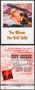 "Movie Posters:War, For Whom the Bell Tolls & Other Lot (Paramount, 1943). Programs(2) (Multiple Pages, 9"" X 12"" & 9.25"" X 12.25""). War.. ...(Total: 2 Items)"