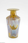 Art Glass:Loetz, An Austrian Iridescent Glass Vase Loetz, c.1900 The'Phanomen'-style slightly flaring cylindrical form shouldering to a...