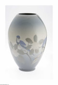 Ceramics & Porcelain, American:Modern  (1900 1949)  , An American Art Pottery Vase Rookwood Pottery, c.1914 The ovoidform vase in a ground of blue to ivory to blue decorated...