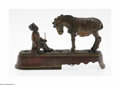General Americana: , An American 'Always did 'spise a mule' Mechanical Bank J. E.Stevens, c.1897 The rectangular plinth with an African Amer...