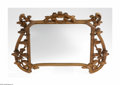 Decorative Arts, French:Other , A French Art Nouveau Mirror Attributed to Louis Majorelle, ca.1900The fruitwood frame with ribbon-form surround decorat...
