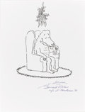 Paintings, BERNARD WABER (American b.1924) . Lyle the Crocodile, original specialty sketch illustration . Ink on paper . 10-1/2 x 8... (Total: 1 Item)