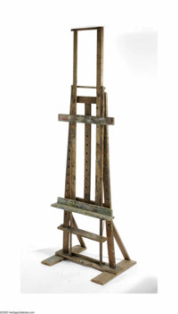 A Charles Rennie Mackintosh Easel Glasgow, c.1900  The very rare and important studio easel of white oak, reputed to be...