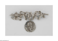 An American Silver Medallion Pin Mark of Shiebler & Co., New York, NY, Late Nineteenth Century  The Etruscan-style s...