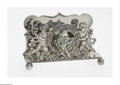Silver Flatware, American:Shiebler, An American Silver Letter Holder Mark of Shiebler & Co., NewYork, NY, c.1890 The letter holder supported on four ball f...