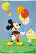 Illustration:Advertising, AMERICAN ILLUSTRATOR (20th Century) . Mickey Mouse Floor PuzzleArt . Watercolor on board . 9-1/2 x 6-1/2in. . Not Signe...(Total: 2 Items)