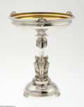 Silver & Vertu:Hollowware, An American Silver Compote Mark of Gorham, Providence, RI, c.1904 The round domed platform engraved with a stylized flor...