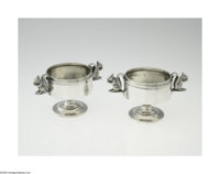 An American Silver Pitcher, Nut Dishes and Open Salts Marks of Taylor and Lawrie, Philadelphia, PA; Tiffany & Co., N...