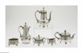 Silver Holloware, American:Tea Sets, An American Silver Tea Set Mark of Tiffany & Co., New York, NY,c.1892 The matching set includes a water pot, tea pot, c... (7Items)