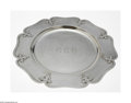 Silver & Vertu:Hollowware, An American Silver Tray. Mark of Shreve & Co., San Francisco, CA, c. 1900. The octagonal strapped and hammered tray in 'Fo...