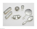 Silver Holloware, American:Vanity, An American Silver Vanity Set Marks of Dominick & Haff, NewYork, NY, and Shreve & Co, San Francisco, CA, c.1900 The set...(13 Items)