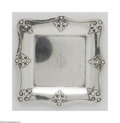 Silver Holloware, American:Trays, An American Silver Card Tray and Salt and Pepper Shakers Mark of Shreve & Co., San Francisco, CA, c.1914 The group all i... (3 Items)